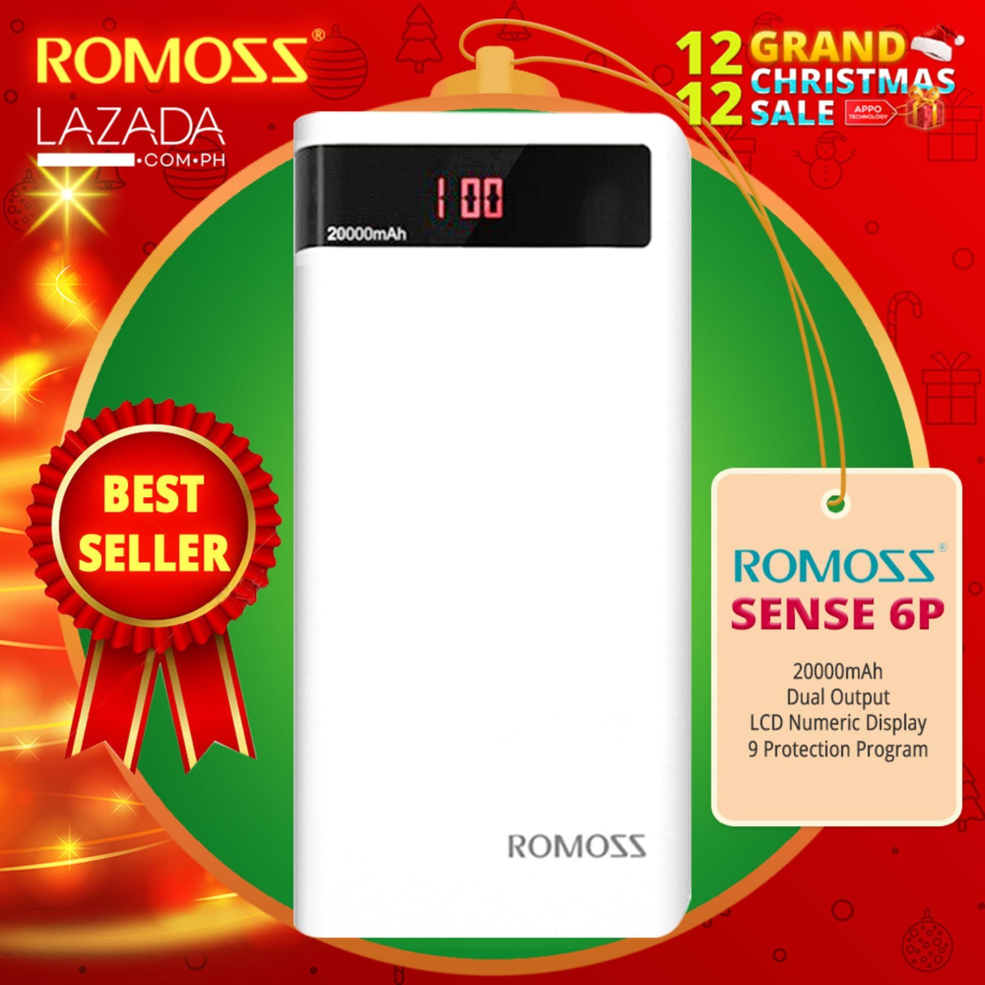 Romoss Philippines Power Bank For Sale Prices Reviews Loop September Powerbank Slim 80000mah Sense 6p 20000mah Dual Output Led Display White