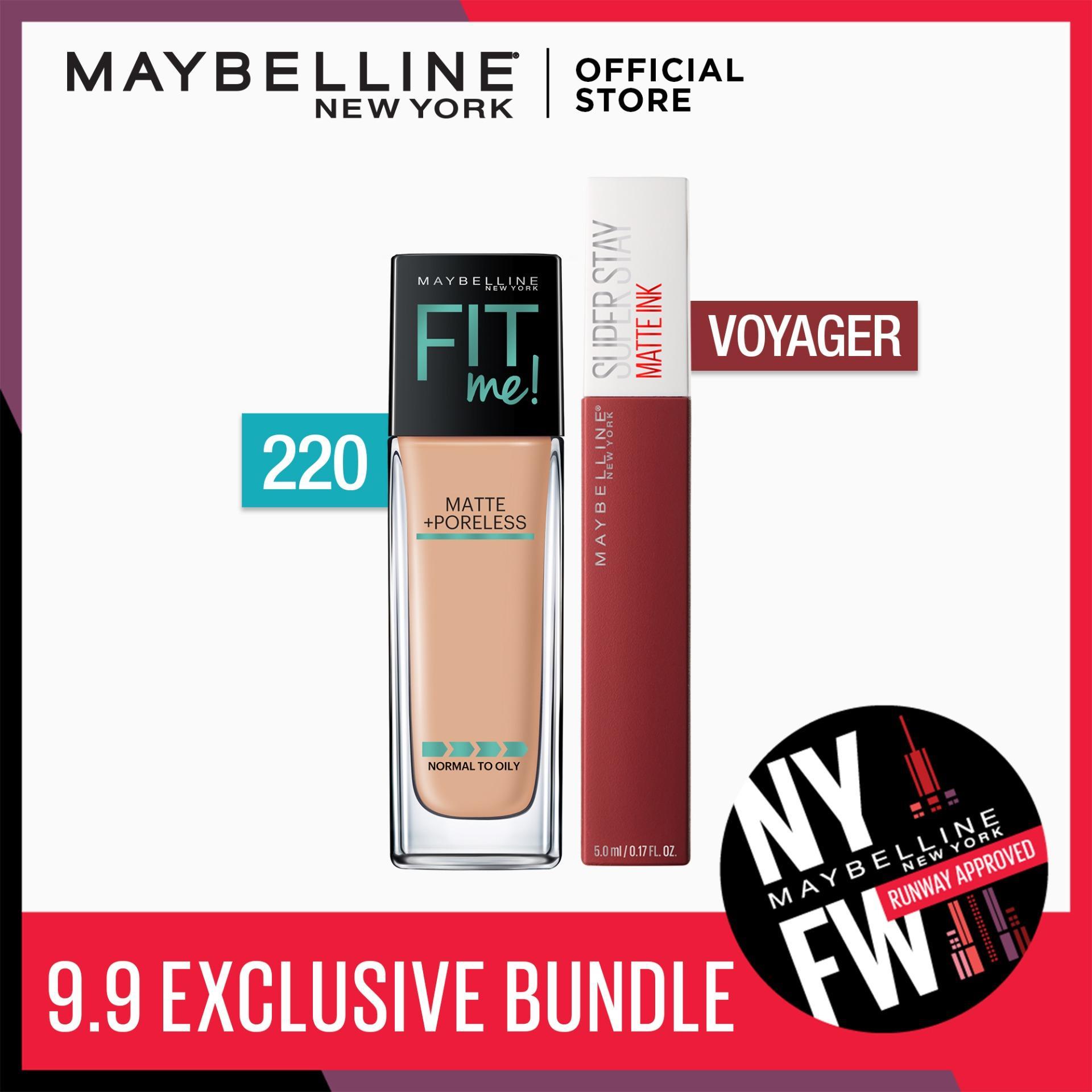 Make Matte Happen Bundle: Fit Me Liquid Foundation 220 + SuperStay Voyager by Maybelline Philippines