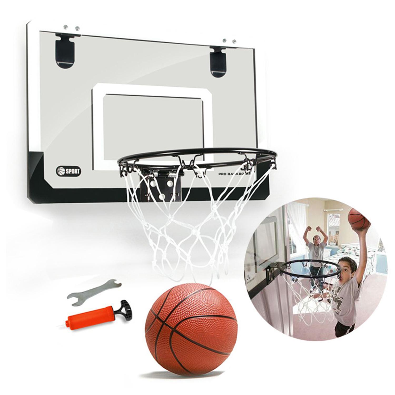 18 x 12 inch Backboard Pro-Style Hoop Portable Snap back Rim Mini Basketball  Ring 45283f7bfa