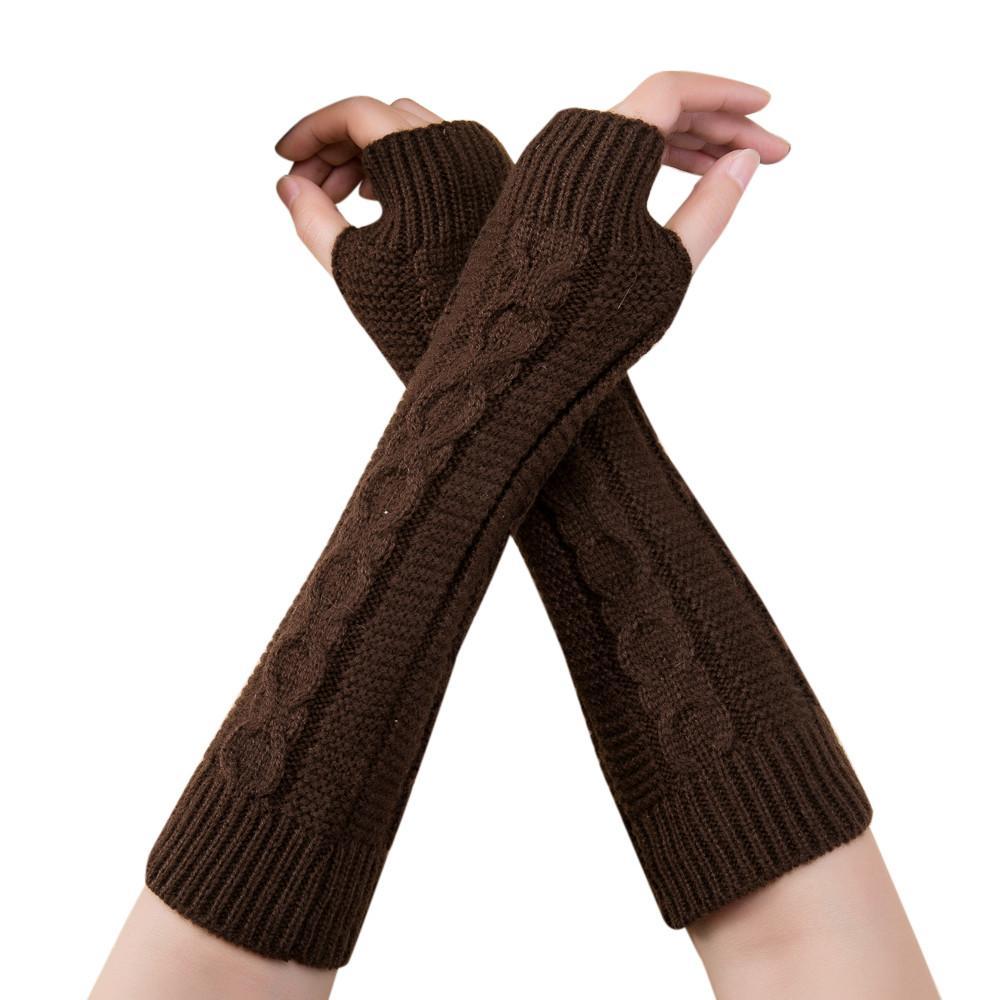b77481d820673 Fashion Unisex Men Women Knitted Fingerless Winter Gloves Soft Warm ...