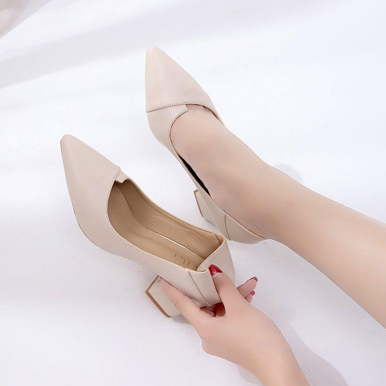 4d2aeec2a21 women Double Purpose High Heel Shoes Chunky Heel 2019 New Style Spring And  Autumn Korean Style