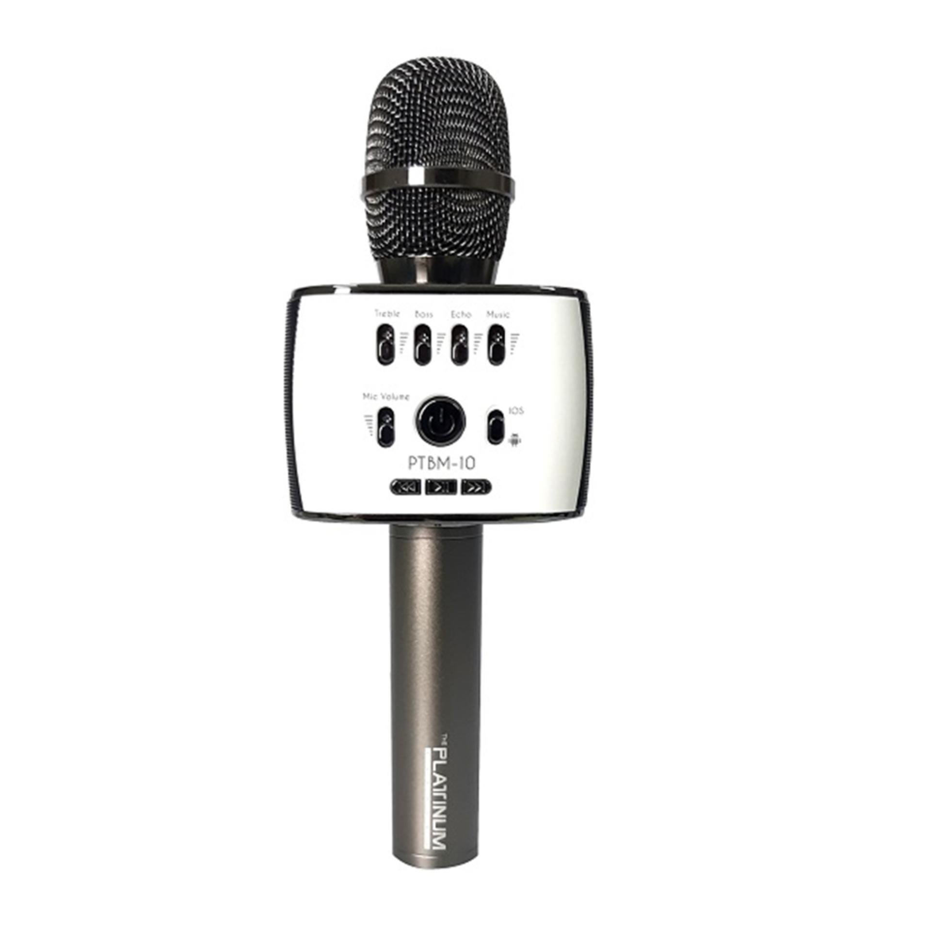 The Platinum PTBM 10 Bluetooth Microphone Gray