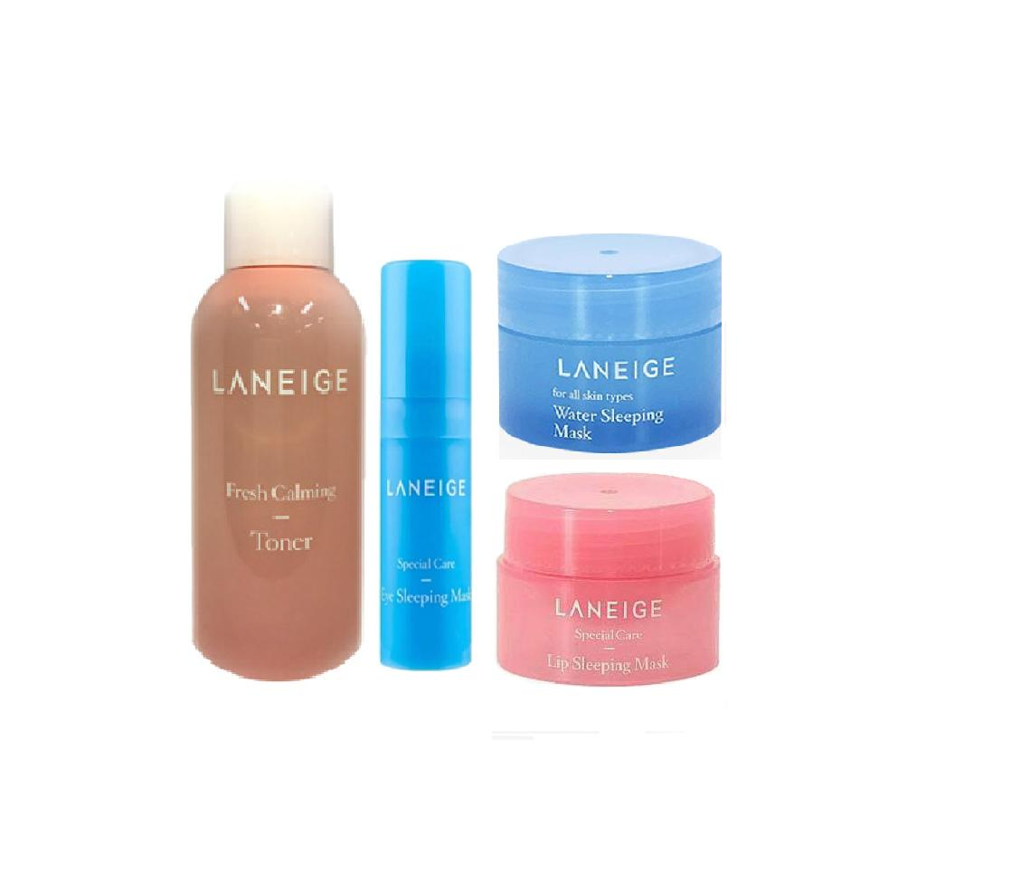 Skincare Sets Brands Gift On Sale Prices Set Laneige Eye Sleeping Mask Korean Cosmetics Fresh Calming Toner 50ml With 5ml Special Care Water