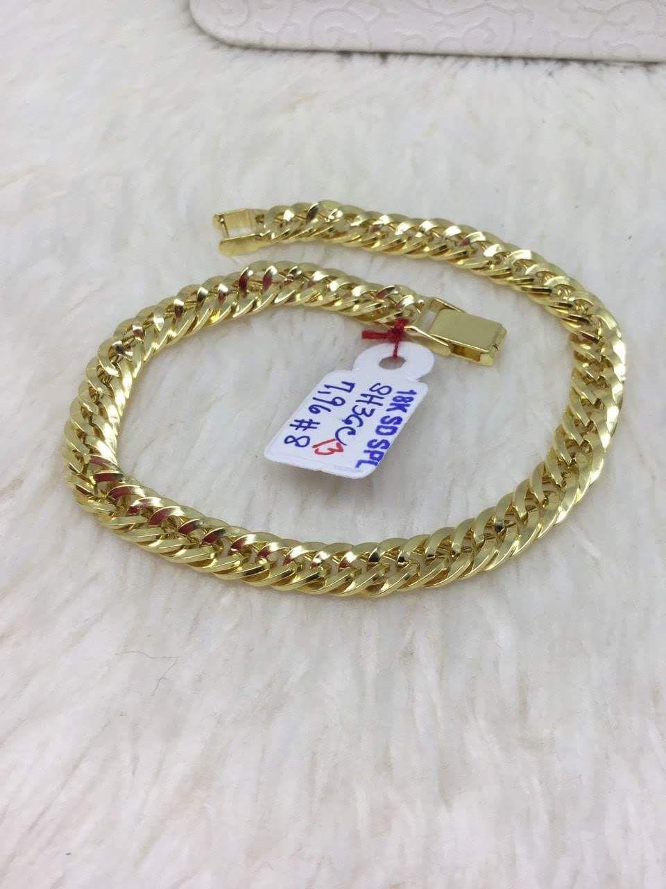 18k Saudi Gold Men S Bracelet