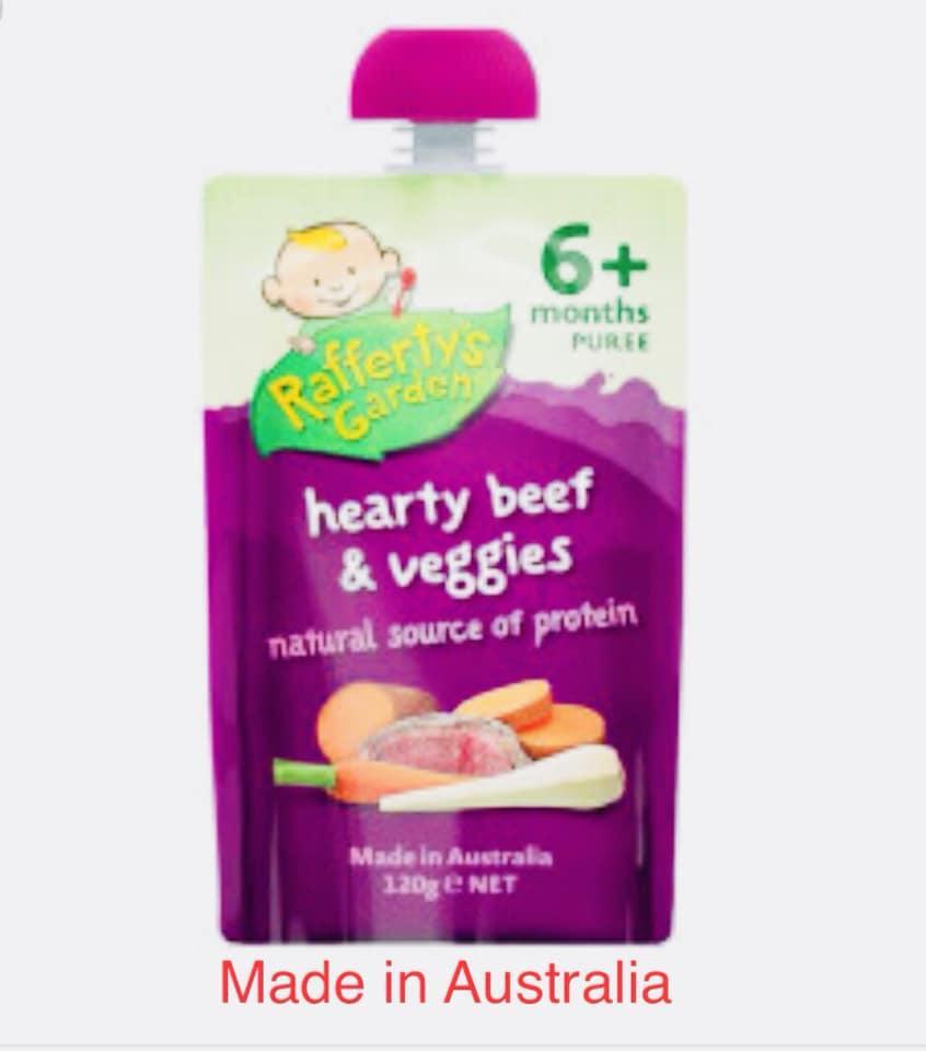 Raffertys Garden Hearty Beef And Veggies Baby Food ( 6 Month + ) By Ozs Best Goodies Merchandise.