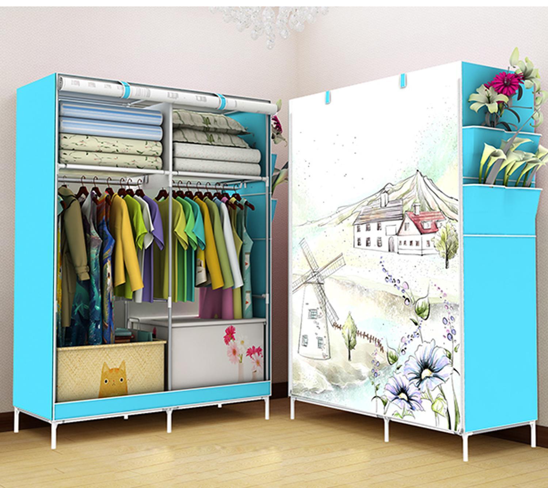3D Wardrobe Closet Clothes Organizer Big Size Rb 8802 (Windmills)
