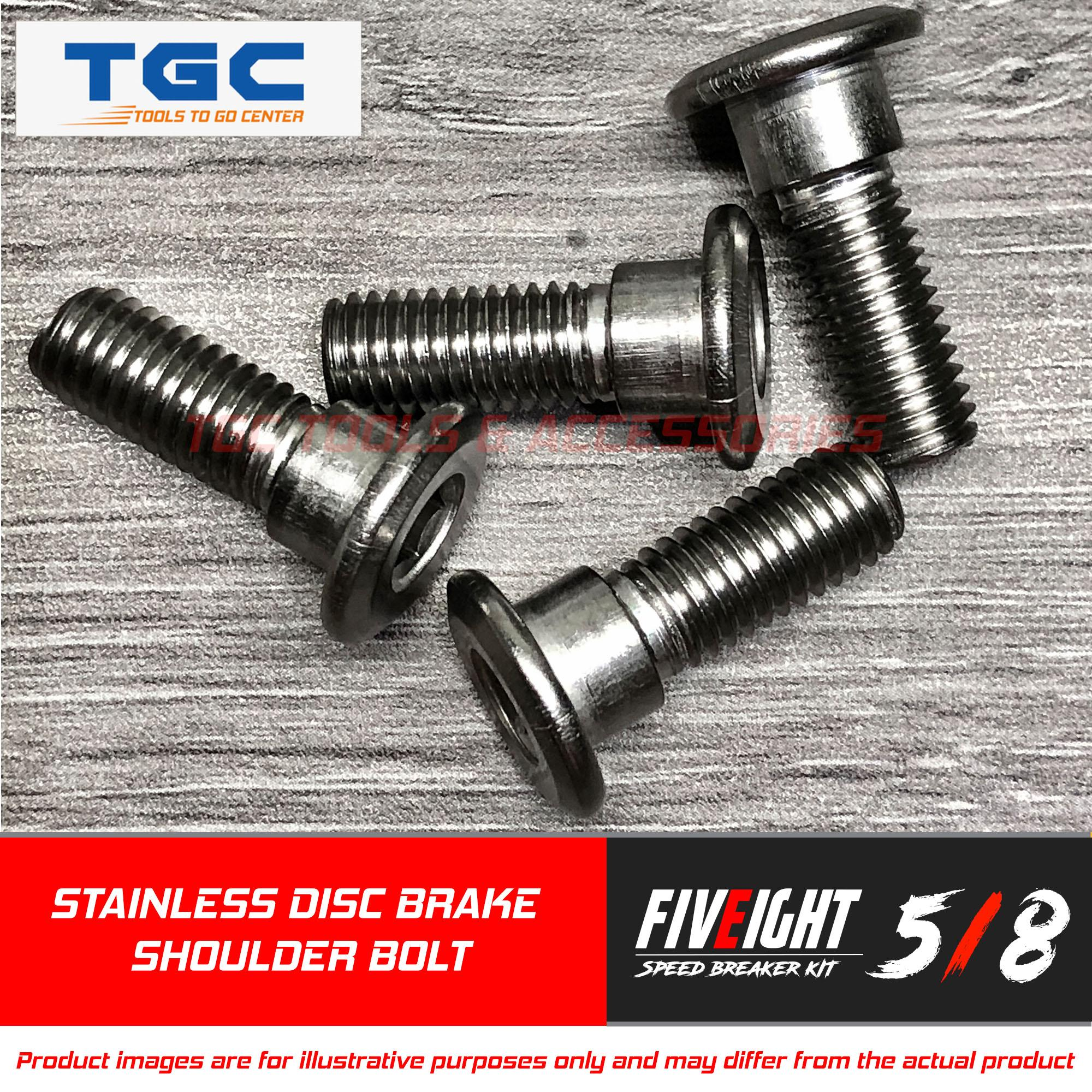 Five Eight Speed 4PCS Disc Bolt Stainless Shoulder Type (M 8 x 1 25P x 24  mm) for Honda and Suzuki Motorcycles Disc Brake Shoulder Bolt TGC