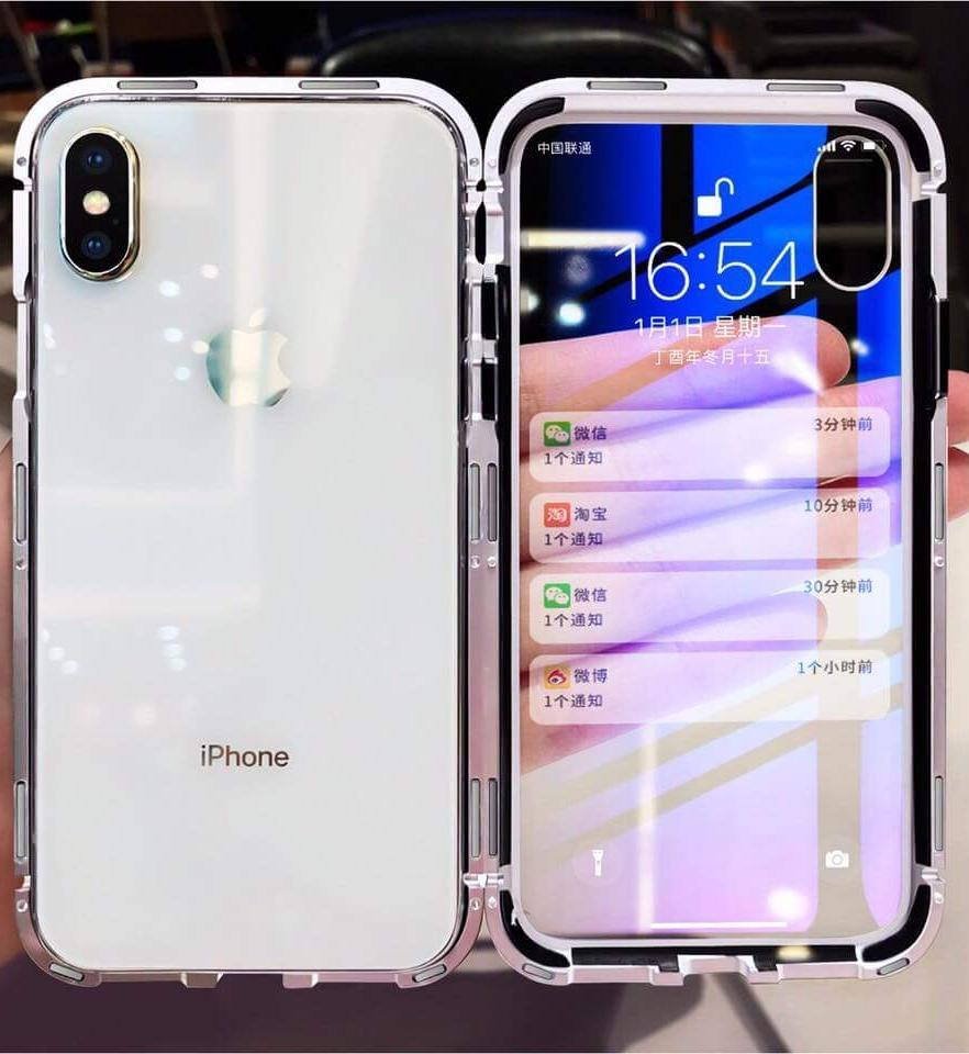 Luxury Magnetic Glass Case for iPhone X