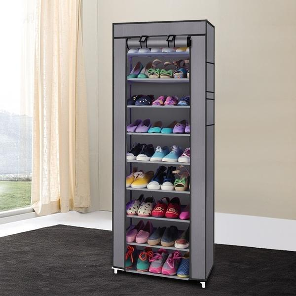 10 Layer 9 Grid Shoe Rack Storage Cabinet Cover Pockets By Vtow Cp Gadget.
