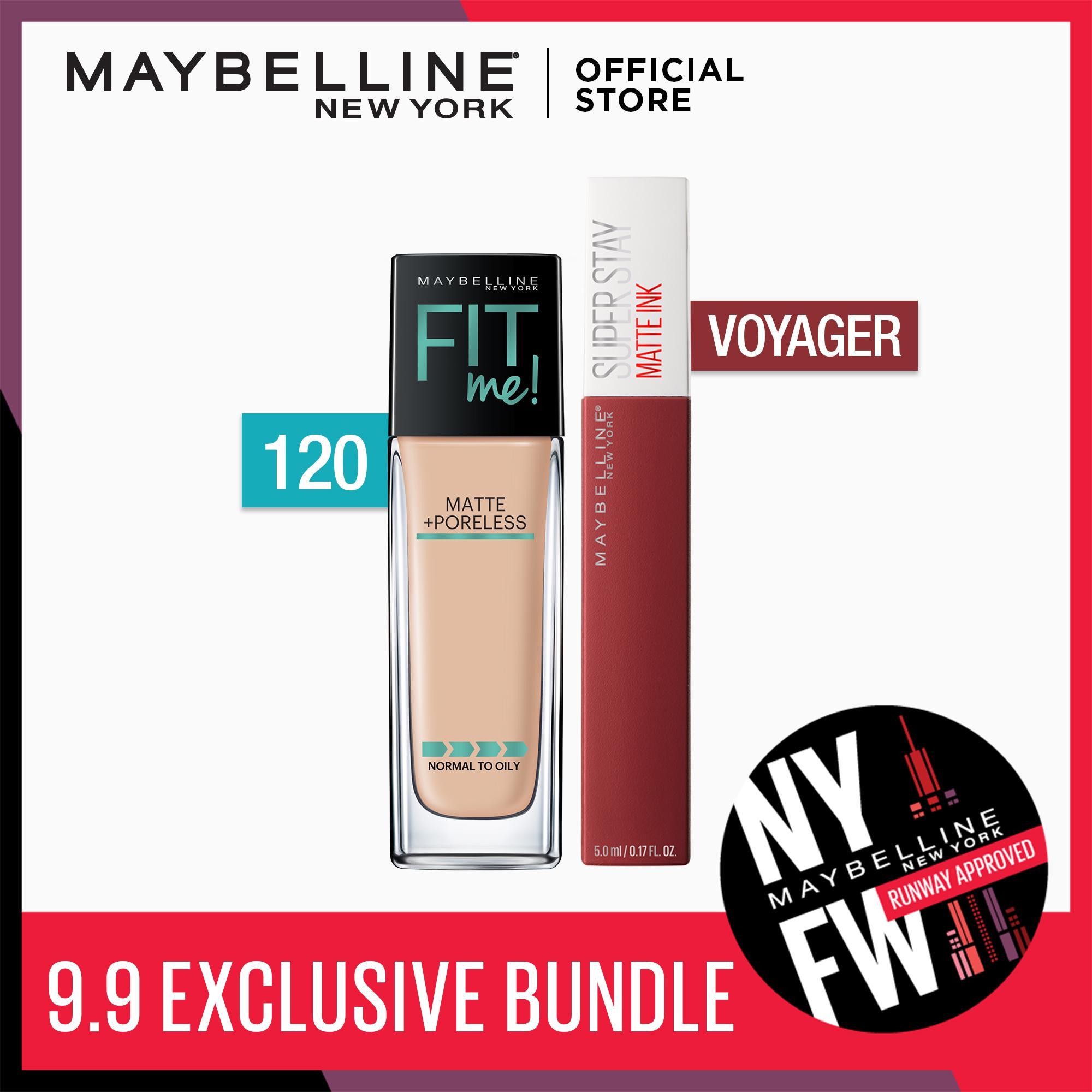 Make Matte Happen Bundle: Fit Me Liquid Foundation 120 + SuperStay Voyager by Maybelline Philippines