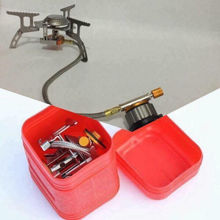 Halin Portable Foldable Camping Stove with Butane Adapter