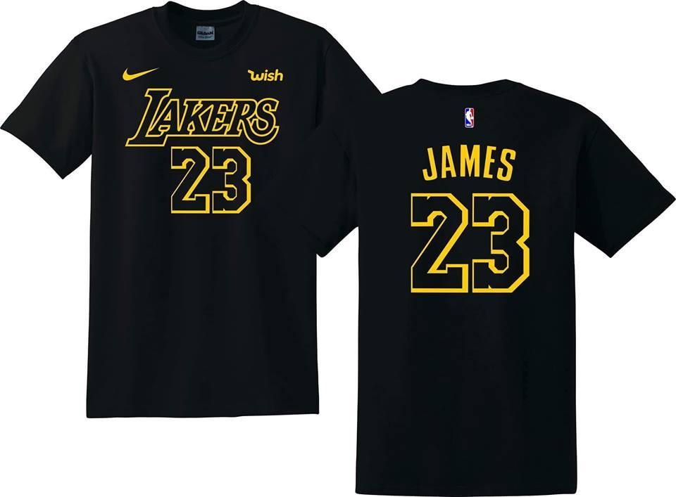 sale retailer 055b5 f9335 GILDAN BRAND LEBRON JAMES LAKERS SHIRT (BLACK)