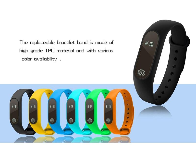 Band M2 Smart Fitness Bracelet Wristband Smartwatch with Sleep Heart Rate  Monitor for Android, IOS