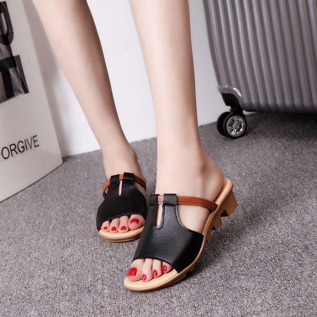 717403967 Korean Fashion Flat Heel Sandals Anti-Skid Slippers Summer Casual Sandals