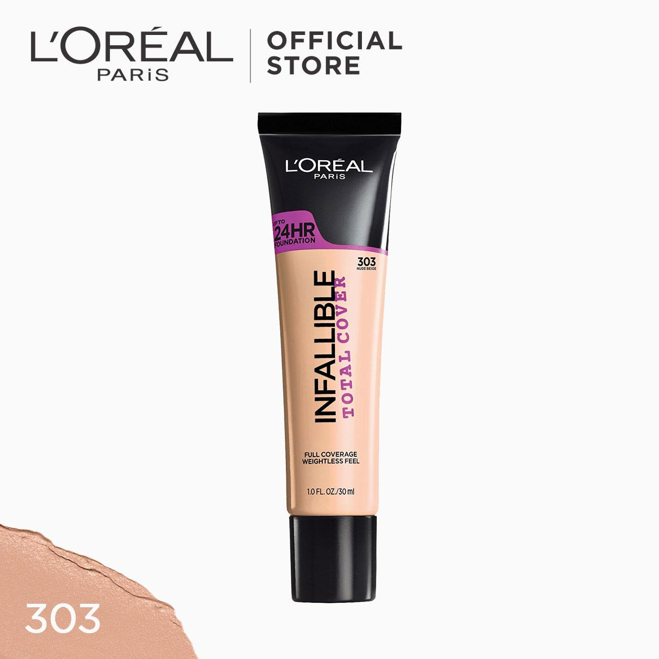 Infallible Total Cover Liquid Foundation - 303 Nude Beige [#GotItCovered 24HR Full Coverage] by LOréal Paris Philippines