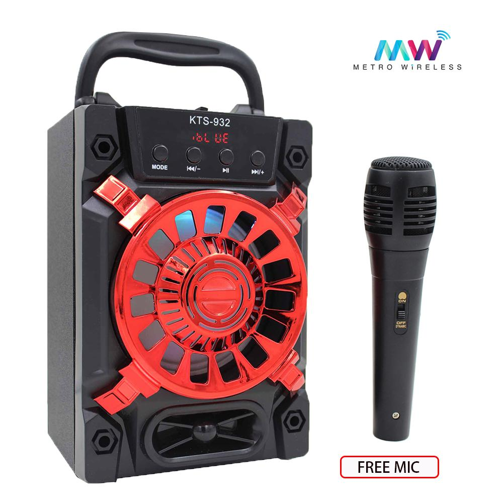 Audio Device For Sale Music Devices Prices Brands Specs 3 Way Wiring Diagram 2 Lights Using 143 Wire Karaoke Portable Wireless Bluetooth Speaker With Microphones Kts 932 Red