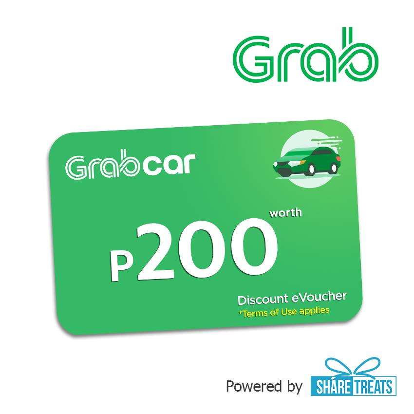 Grab Car Promo Code P200 (sms Evoucher) By Share Treats.