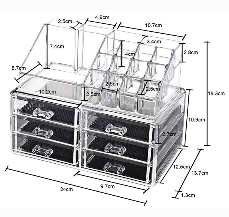 Storage Box Organiser Clear Acrylic Makeup Make Up Organizer Philippines