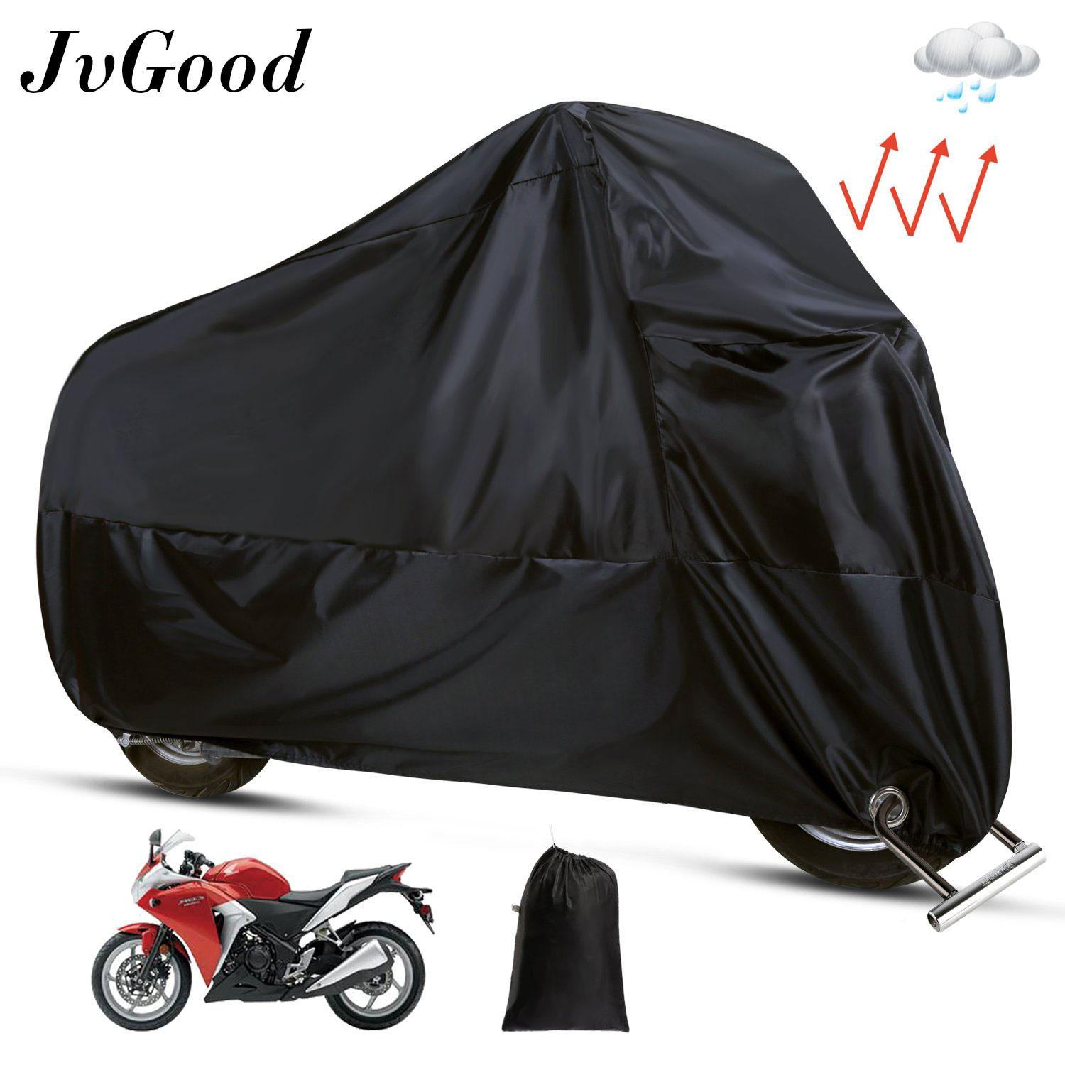 JvGood Motorcycle Cover, Motorbike Waterproof Cover Protector Case Cover Rain Protection Breathable UV Sun Shade