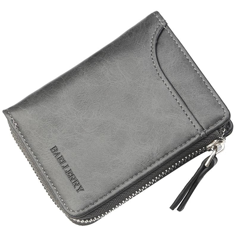 Baellerry 2018 Men Wallets Mens Short Leather Wallet with Coin Bag Zipper Small Money Purses Dollar