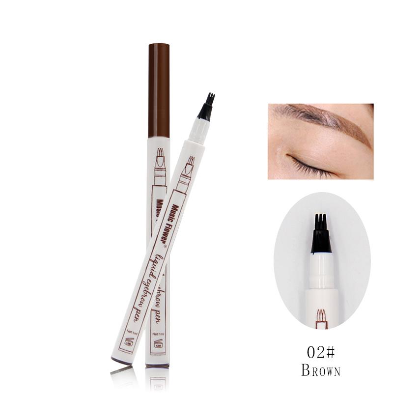 Music Flower Brand Makeup 3 Colours Fine Sketch Liquid Eyebrow Pen Waterproof Tattoo Super Natural Eye Brow Pencil Smudge-proof Philippines
