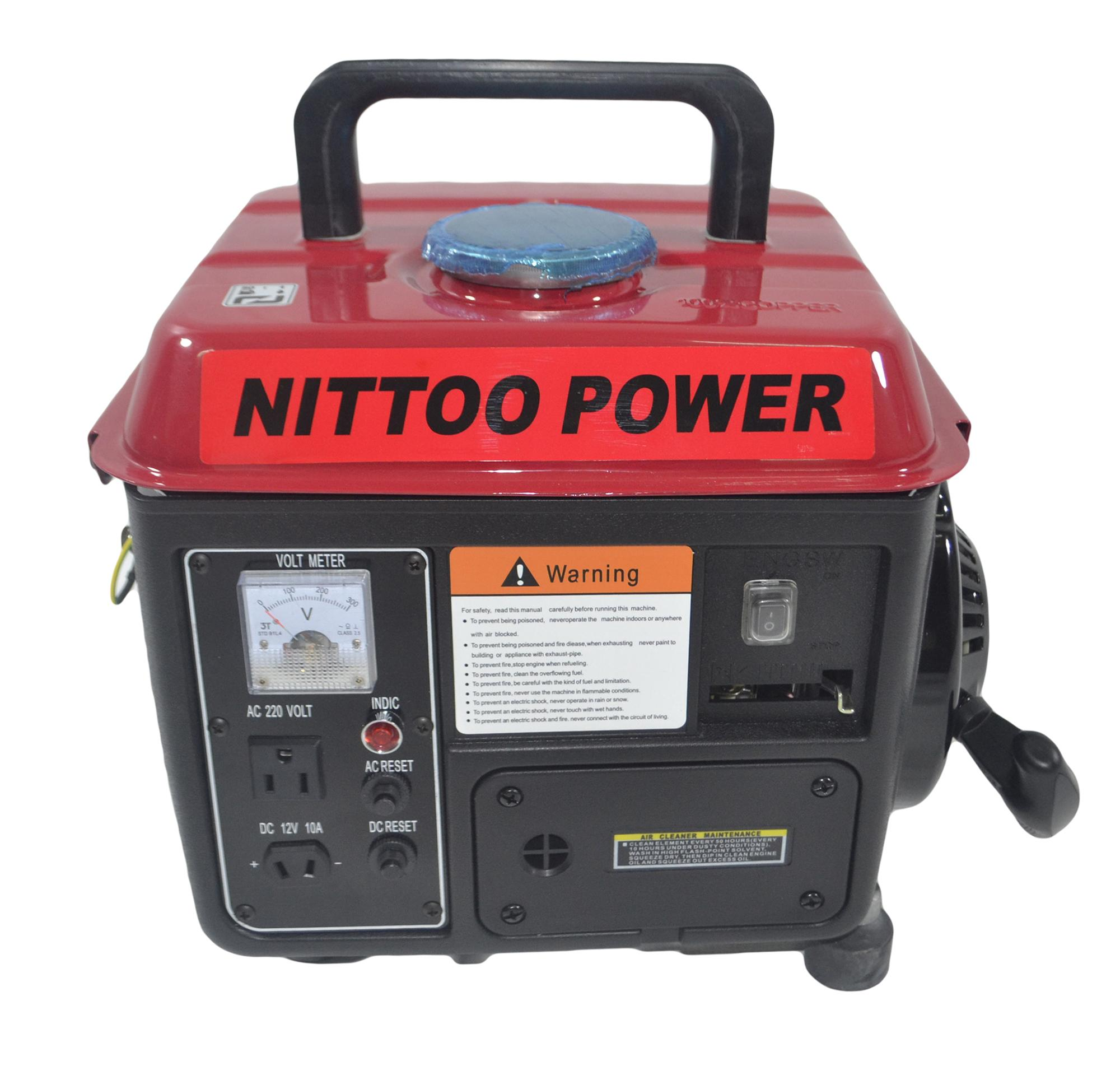 Portable Generator For Sale Power Prices Brands 4000 Watt Generac Wiring Nittoo 950w 100 Copper Wire Gasoline Recoil Start 220v Single Phase