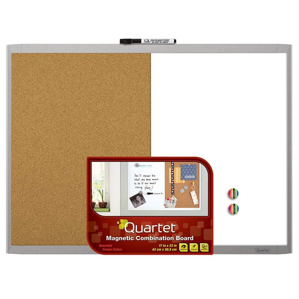 Quartet® Magnetic Combination Board 17 X 23 Inches - Whiteboard Plus Cork Board By Handyman.