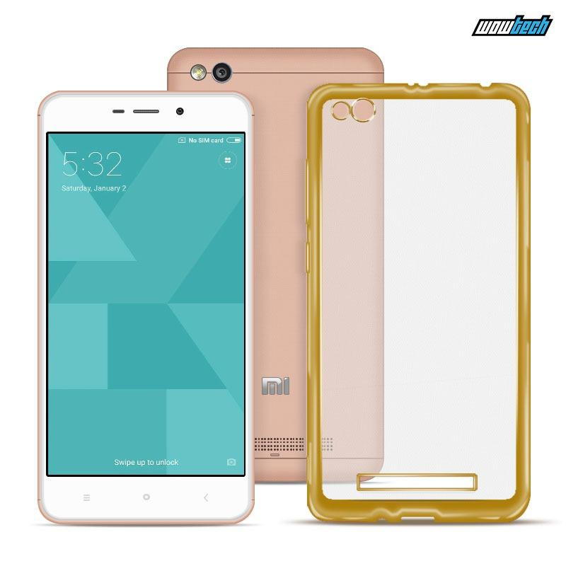Ace Soft TPU Jelly Case v.1 for Redmi 4A (Gold Clear)