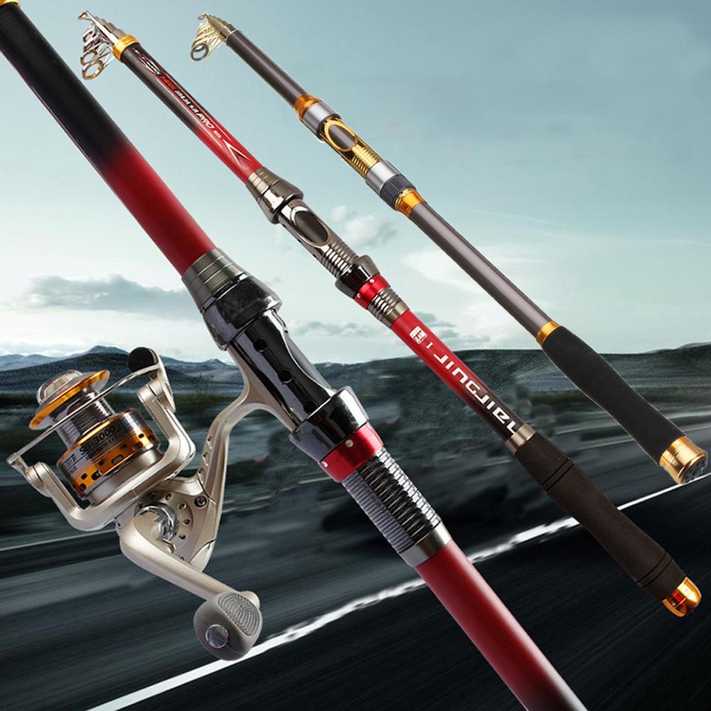3.6m Carbon Fiber Telescopic Fishing Rod Saltwater Casting Sea Spinning Pole