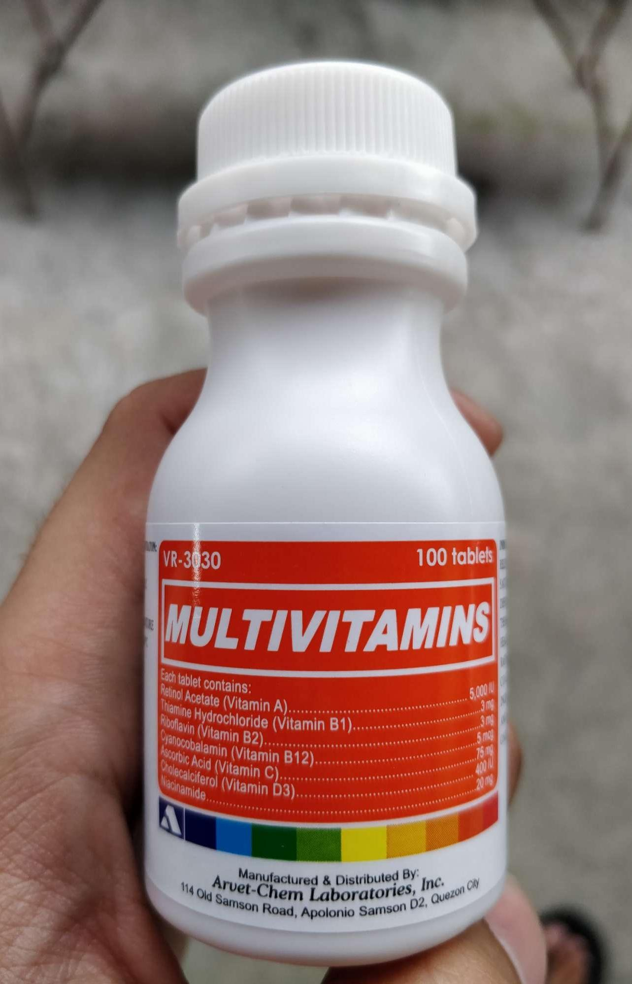 MULTIVITAMINS (100 tablets)