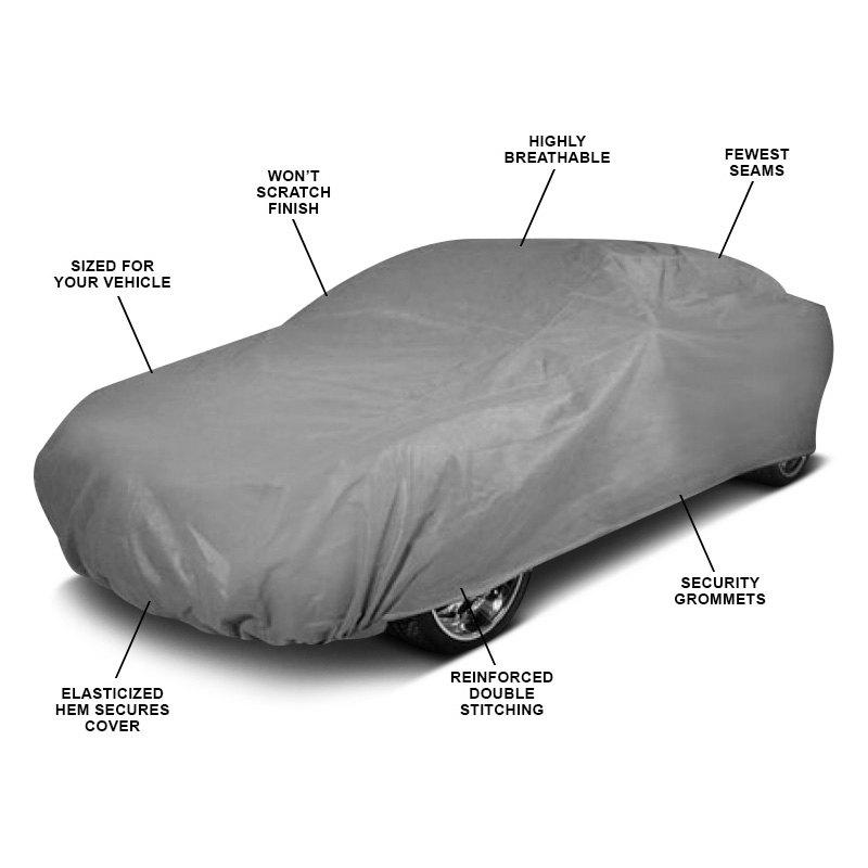 Waterproof Lightweight Nylon Car Cover for Automobile L-Size