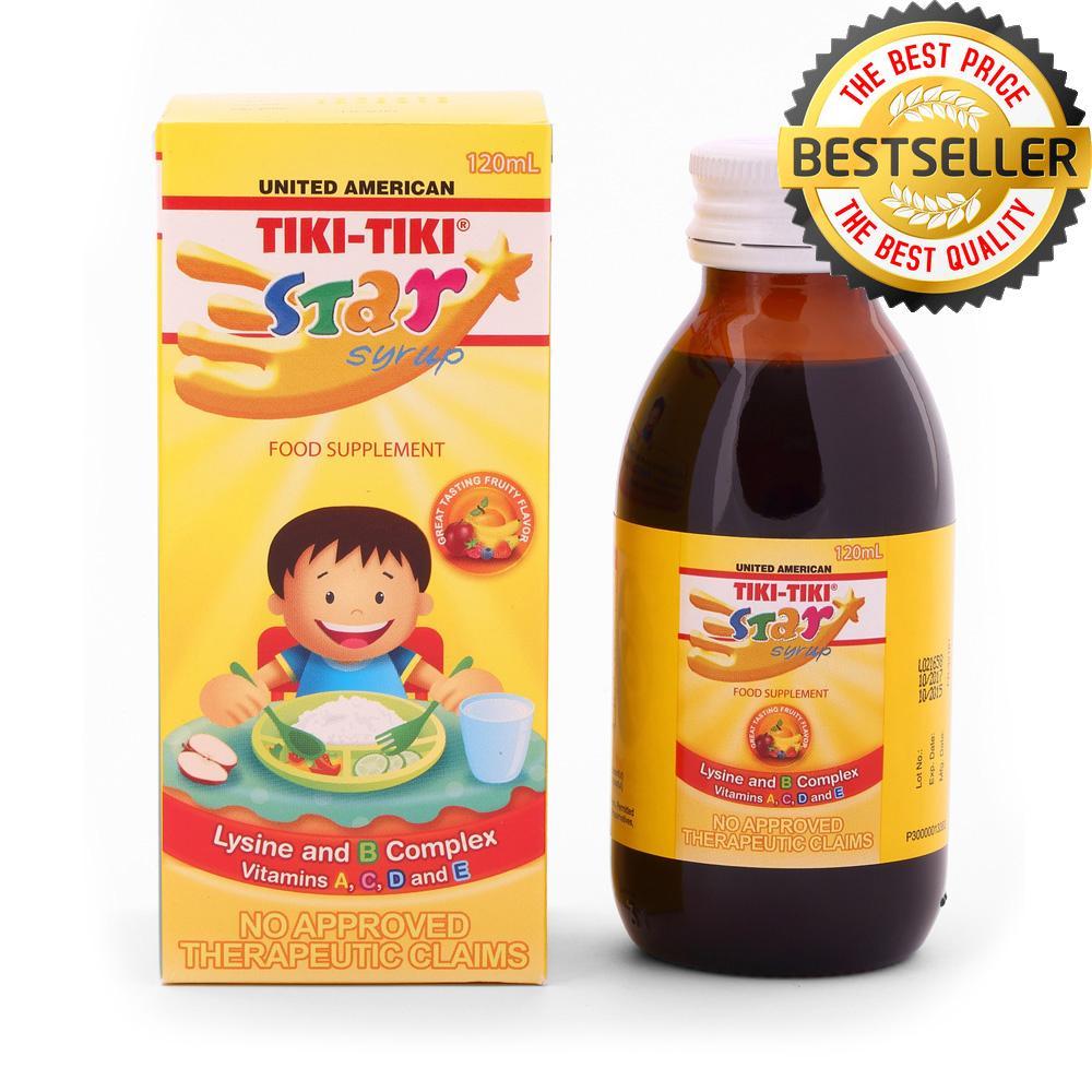 Tiki-Tiki Star Syrup 120ml By Jc Pharma.