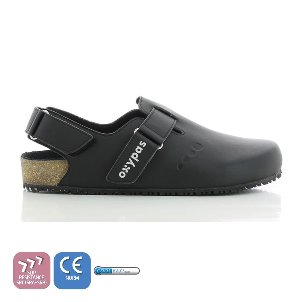 82757d454ba Oxypas BIANCA (Black   White   Gray) Ladies Slip-On Birkenstock Style  ANATOMICALLY