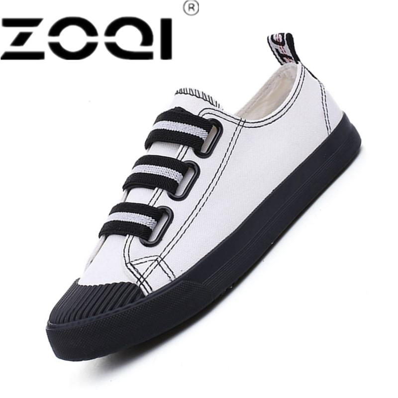 ZOQI Spring Autumn Men And Women Canvas Shoes Sneakers Running Shoes Trending Style Sports Shoes Breathable