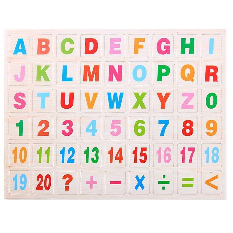 Numbers And Letters Peg Puzzle Combo By Cici Shop.