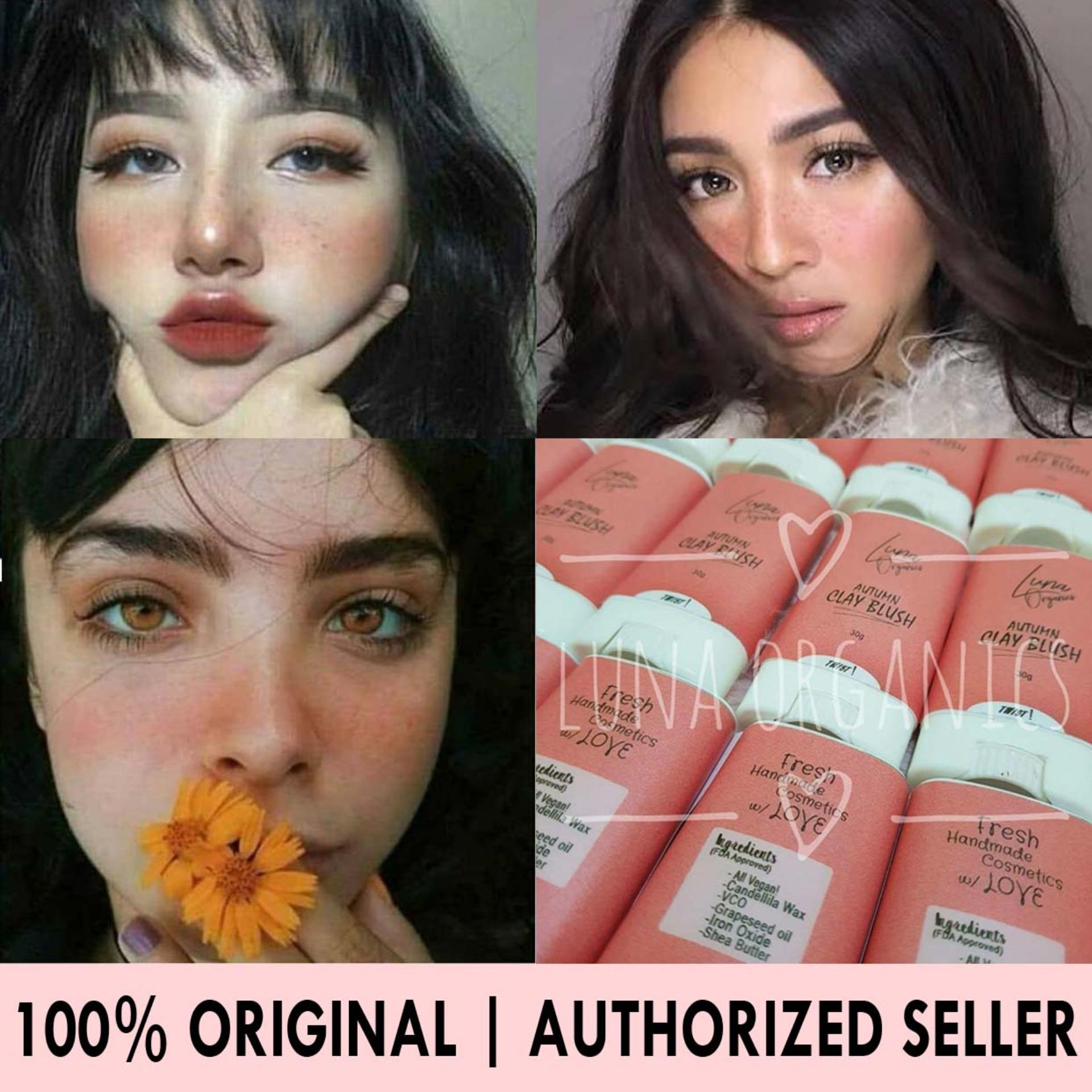 Authentic LUNA ORGANICS AUTUMN Clay Blush Shade 100% Original (Exclusive Authorized Product Distributor Taguig Area) FDA Approved Vegan Korean Make Up Dewy Look Highly Pigmented 30grams Philippines