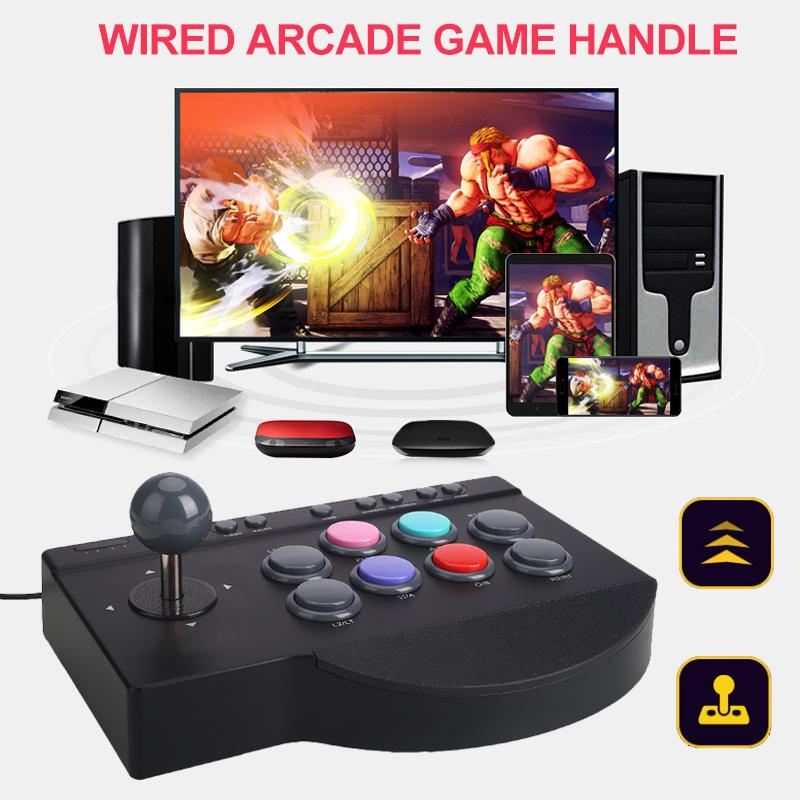 Original PXN-0082 Gamepad Arcade Wired Joystick Game Controller USB Interface for PC PS3 PS4