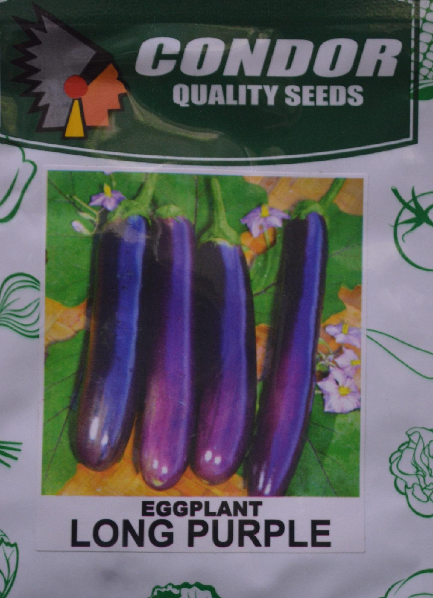 Eggplant (long Purple) Seeds By Arneth Home And Garden.