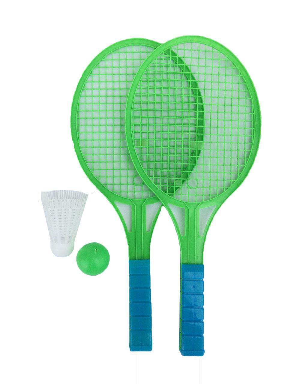 Badminton 1 Set Double Light Mini Badminton Tennis Racket Kids Educational Sports Games
