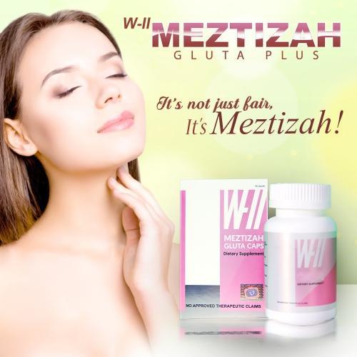 Authentic W-II Meztizah Gluta Plus ( made in taiwan 60 capsules )