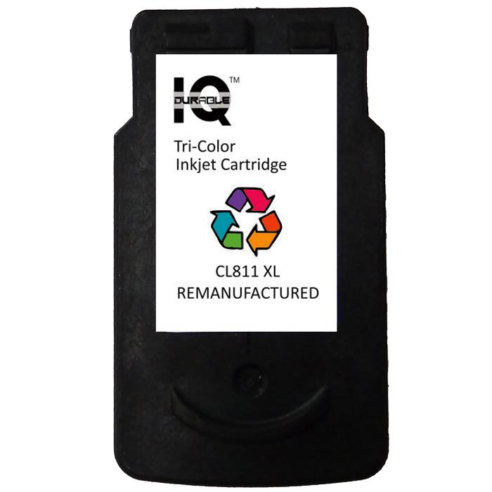 Remanufactured Canon Cl-811 Xl (tri-Color) Ink Cartridge By Iq Durable.