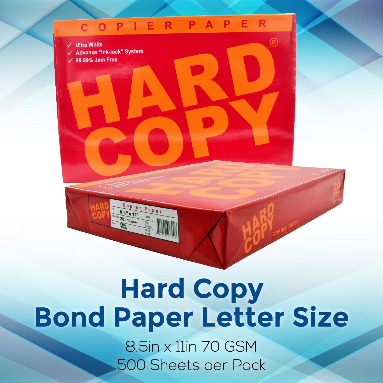 Hard Copy Bond Paper Short / Letter Size 1 Ream