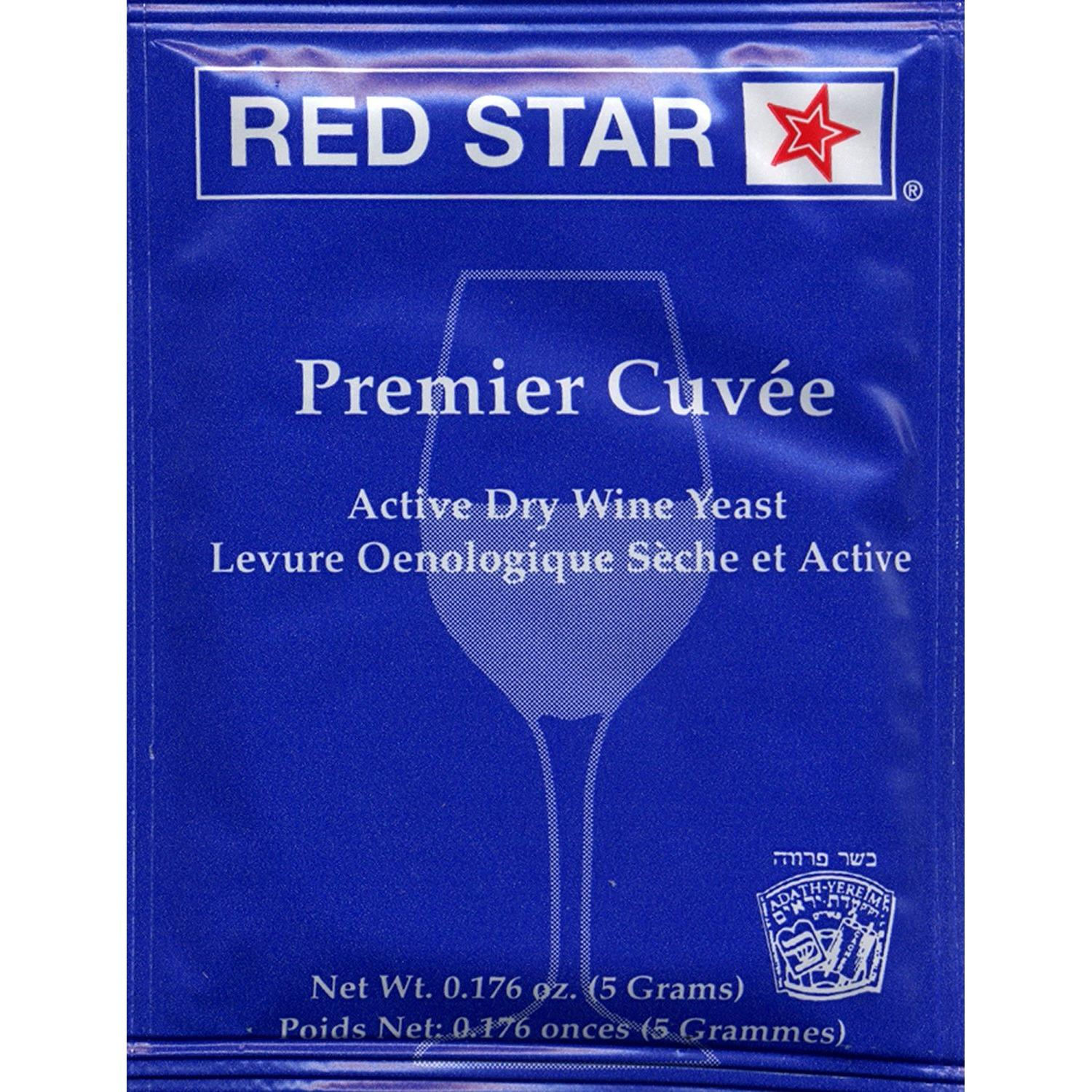Red Star Premier Cuvee Wine Yeast, 5g - 5-Pack By Elite Collection.