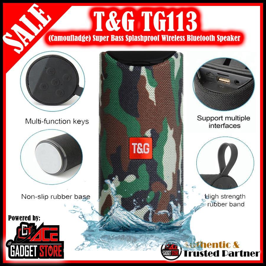 T&g Tg113 Super Bass Splashproof Wireless Bluetooth Speaker By  Acegadgetstoreph