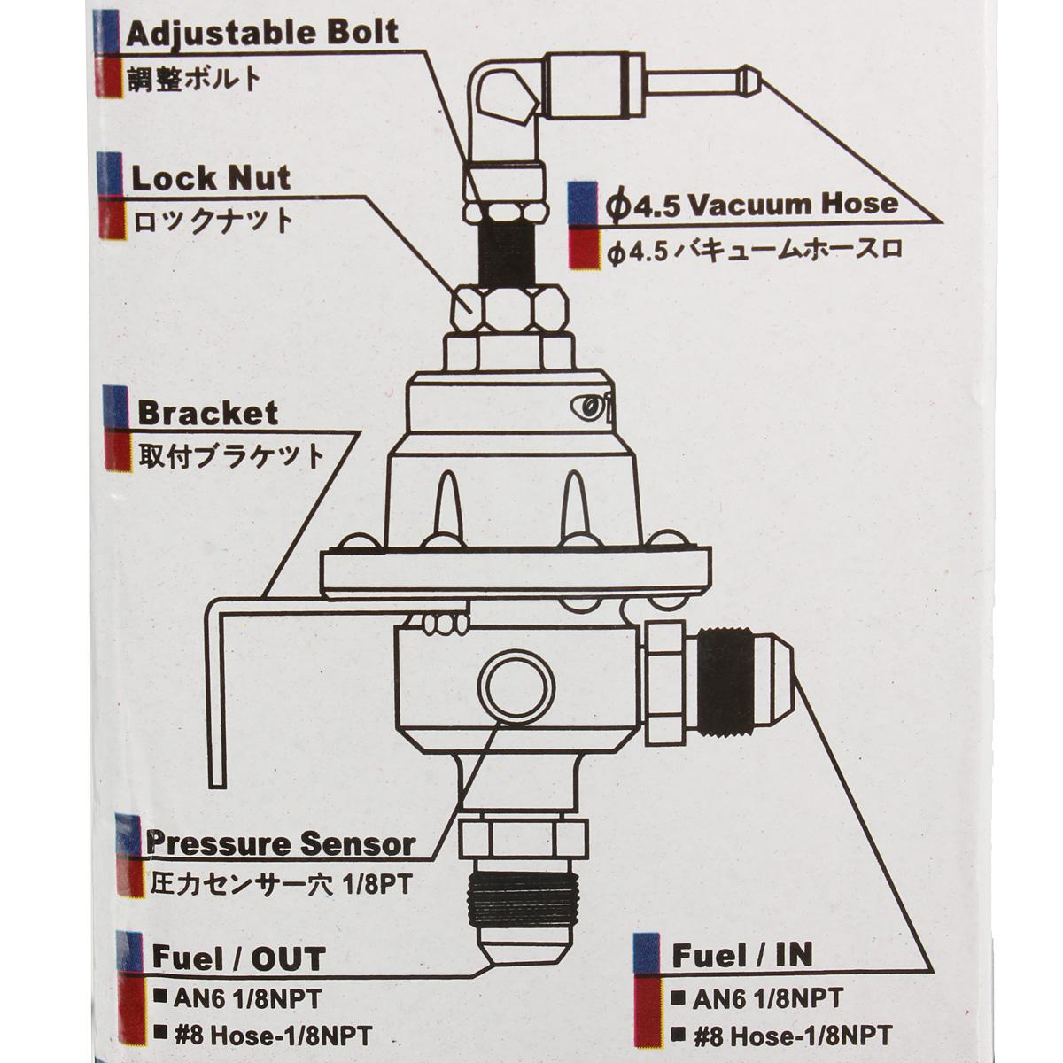 Free Shipping Flash Dealhot New Adjustable Fuel Pressure Regulator Diagram 16