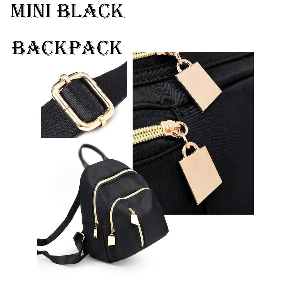 ce7dce33f37d AMOG Korean Mini Black Backpack Bag Fashion Bag Backpack Casual Office Bag