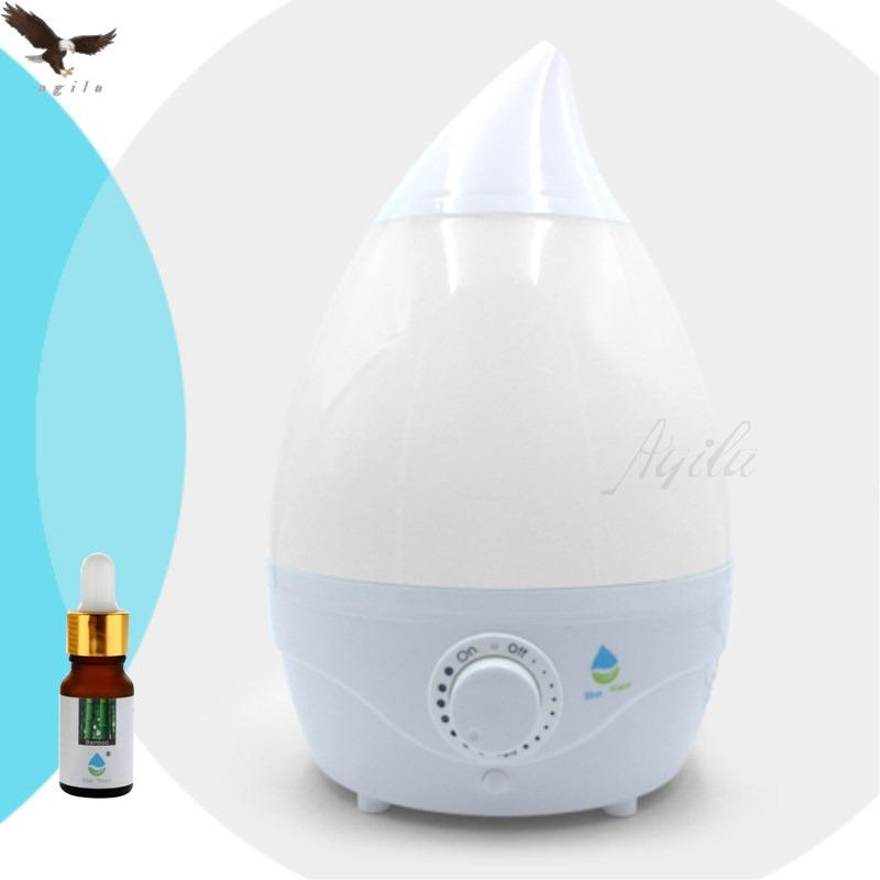 Blue Water Home Office Ultrasonic Air Humidifier(whitw)with Led Colorful Light Free Fragrant Essential Oil Bw1336 By Agila General Merchandise.