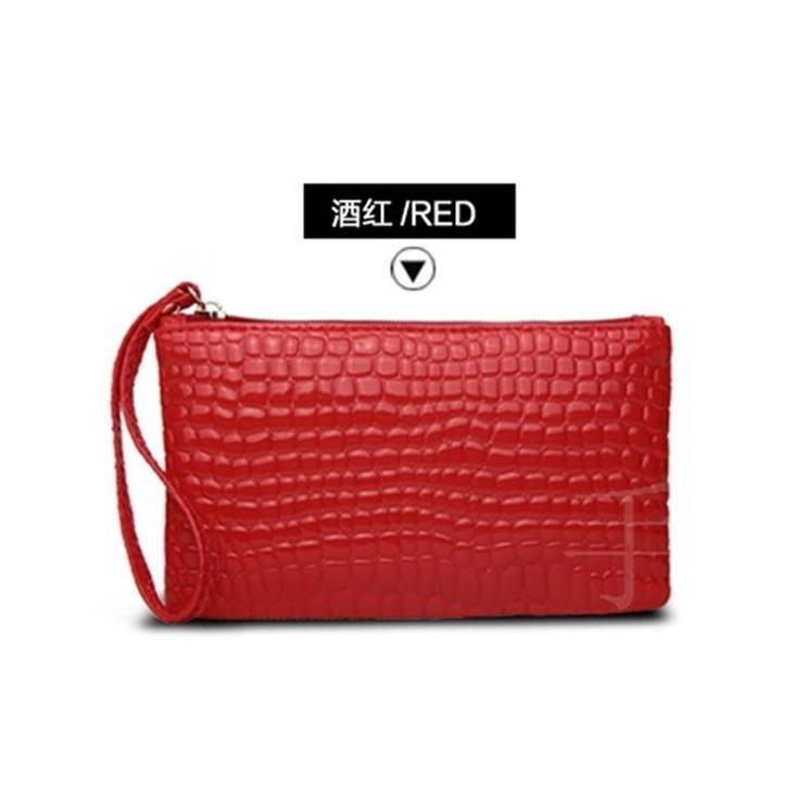 Las Snake Skin Simple Pouch Mobilephone Handbag