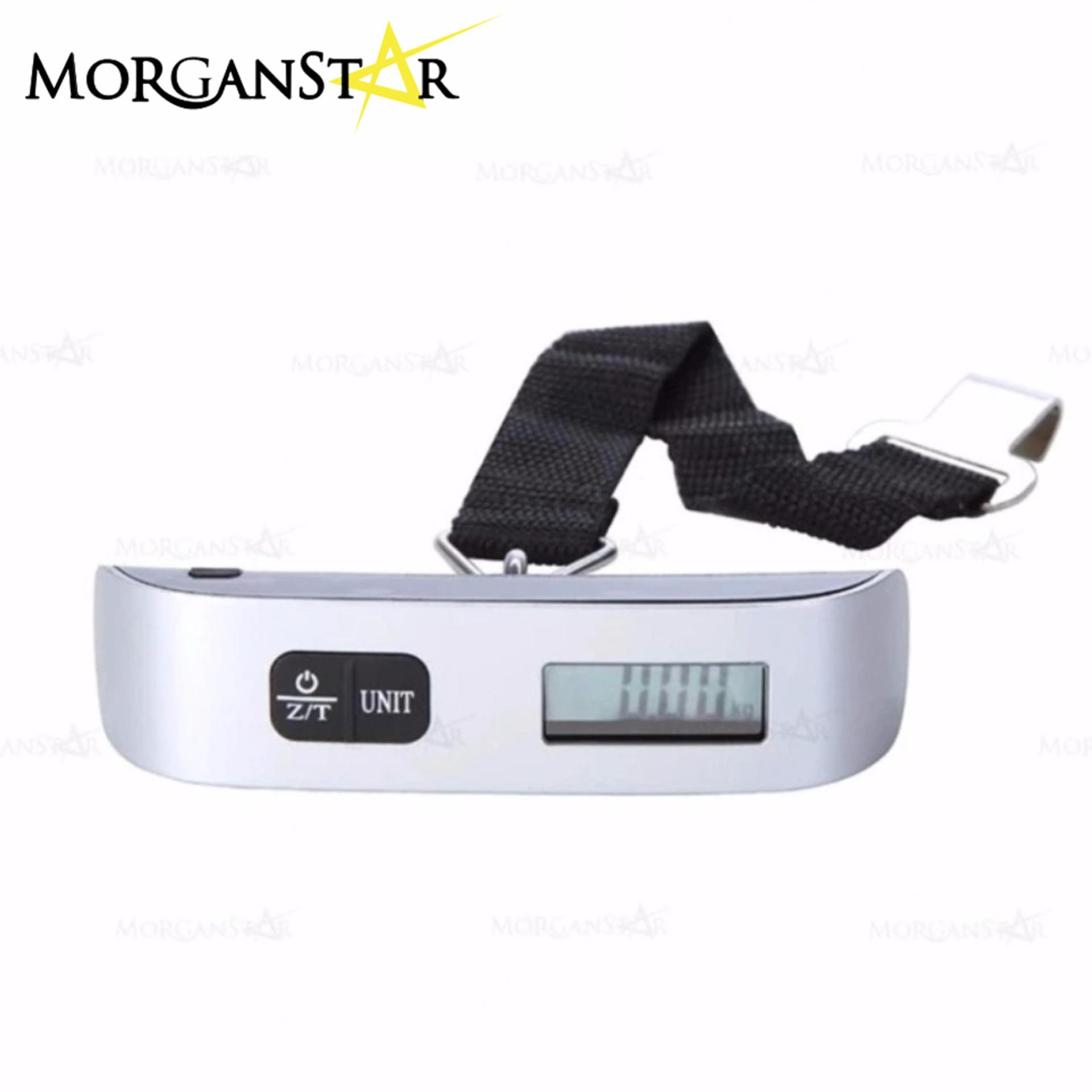 50 Kg/110lb Portable Electronic Luggage Scale (silver) By Morganstar Marketing.