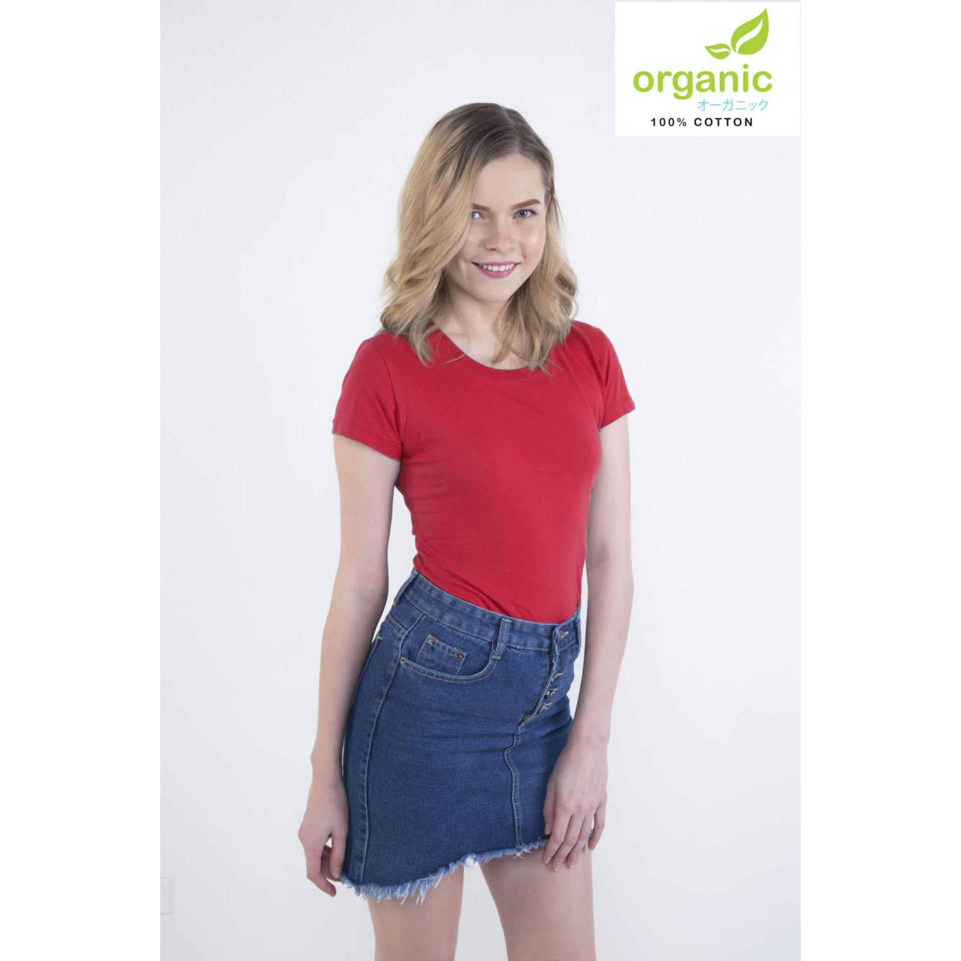 Organic Ladies Fashionable Round Neck Tees Shirt tshirt